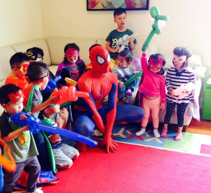 superhero party spiderman birthday 4