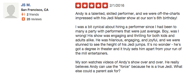 kids party entertainer reviews 1 - Andy Zandy