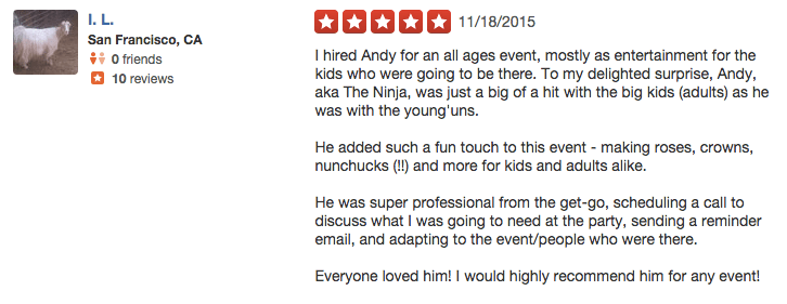 kids party entertainer reviews 2 - Andy Zandy