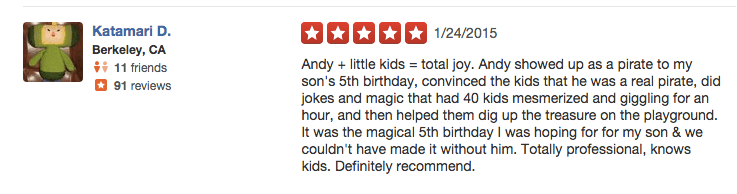 kids party entertainer reviews 6 - Andy Zandy