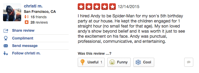 kids party entertainer reviews 7 - Andy Zandy