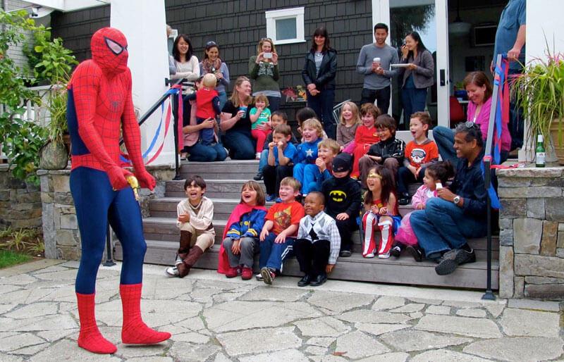 superhero party spiderman birthday 2